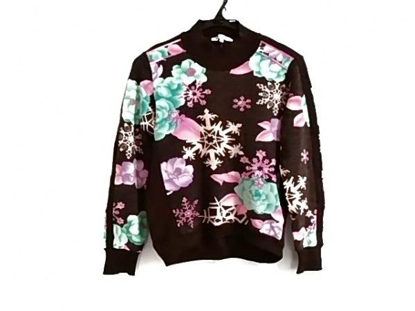 LEONARD(レオナール) 長袖セーター サイズ40 M レディース美品  花柄/ハイネック