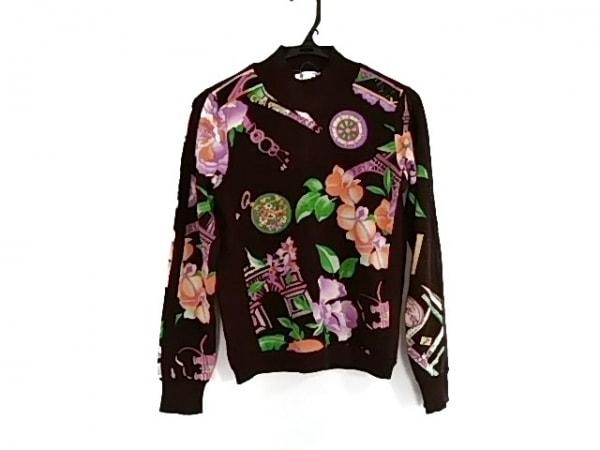 LEONARD(レオナール) 長袖セーター サイズ38 M レディース美品  フラワー/ハイネック