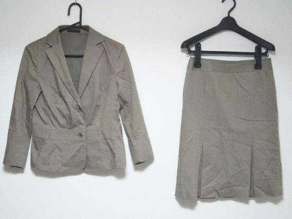 ICB(アイシービー) スカートスーツ サイズ11 M レディース ベージュ×アイボリー
