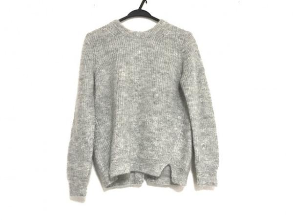 SACRA(サクラ) 長袖セーター サイズ38 M レディース美品  グレー×黒 リボン