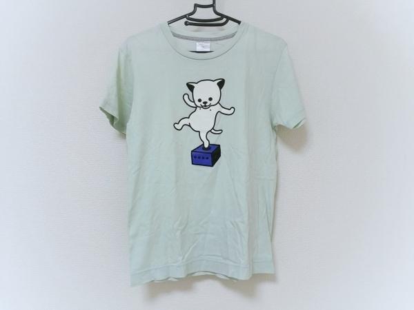 CUNE(キューン) 半袖Tシャツ メンズ ライトグリーン×マルチ