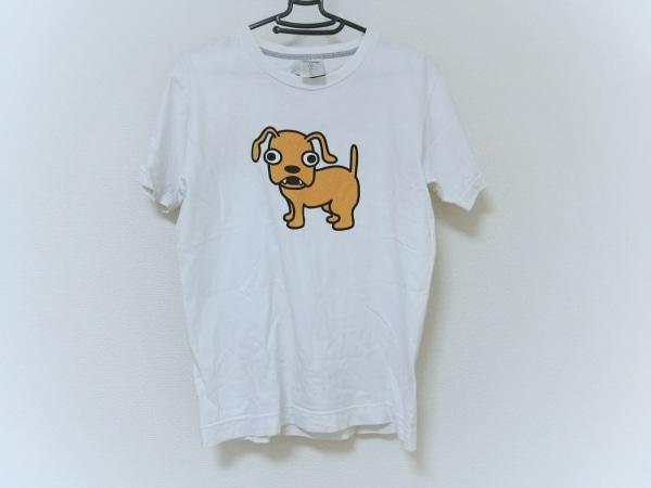 CUNE(キューン) 半袖Tシャツ メンズ 白×マルチ