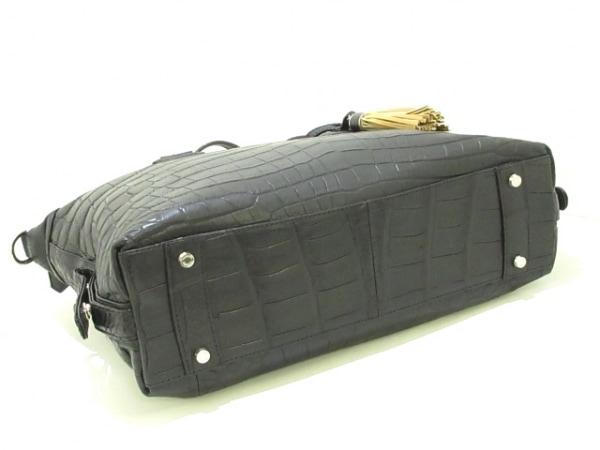 LEATHER JEWELS(レザージュエルズ) ハンドバッグ美品  02N01B 黒 クロコダイル