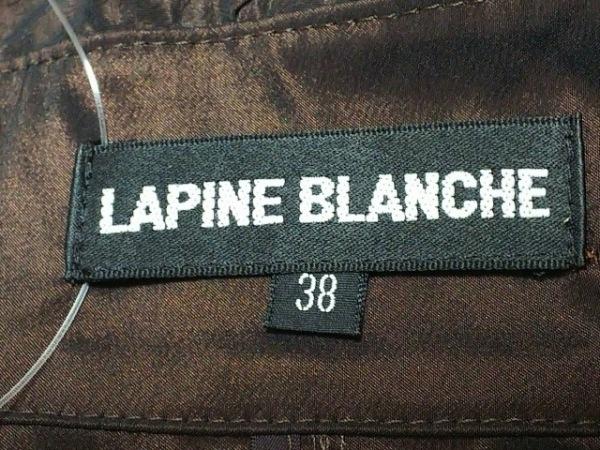 ラピーヌブランシュ コート サイズ38 M レディース美品  ダークブラウン