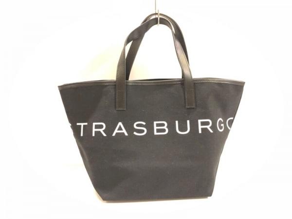 STRASBURGO(ストラスブルゴ) トートバッグ 黒×白 キャンバス×レザー