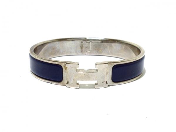 HERMES(エルメス) バングル クリッククラック 金属素材 シルバー×ブルー