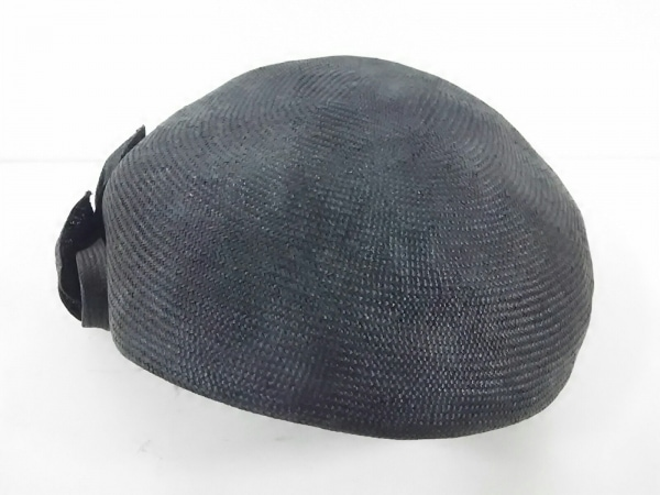 VOGUE(ヴォーグ) 帽子 黒 フラワー 天然繊維