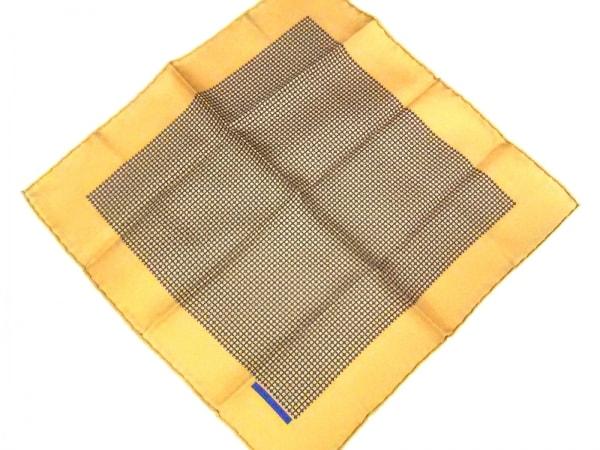 HERMES(エルメス) スカーフ美品  プチカレ ライトブラウン×ブルー×カーキ