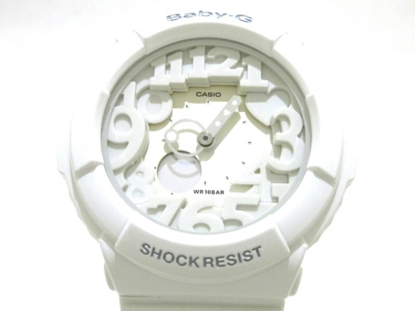 CASIO(カシオ) 腕時計美品  Baby-G BGA-131 レディース ラバーベルト アイボリー