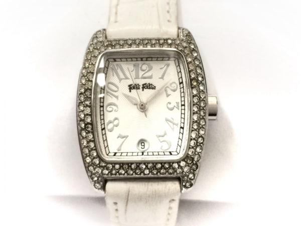 FolliFollie(フォリフォリ) 腕時計 - レディース ラインストーン 白