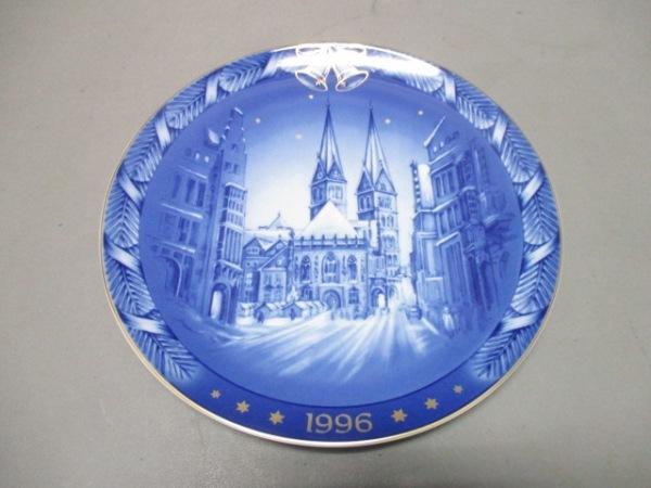 Rosenthal(ローゼンタール) プレート新品同様  ブルー×白×ゴールド 陶器