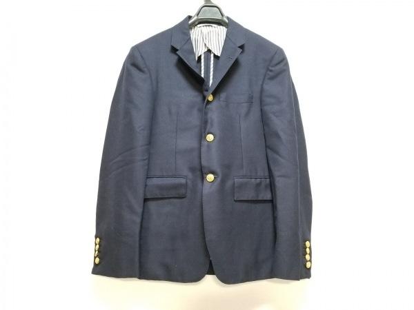 THOM BROWNE(トムブラウン) ジャケット サイズ0 XS メンズ ネイビー 肩パッド