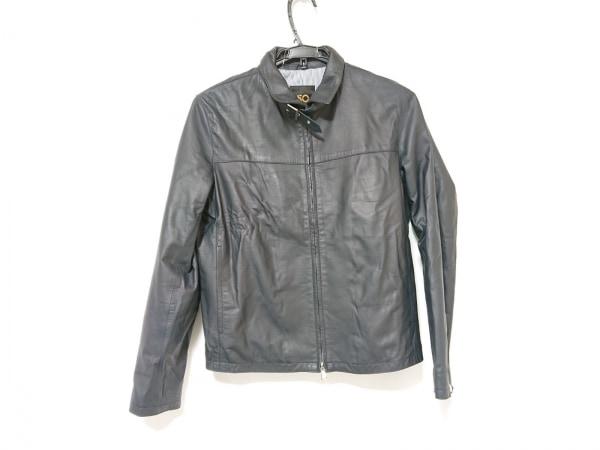 Cinquanta(チンクアンタ) ライダースジャケット メンズ 黒 レザー/ジップアップ