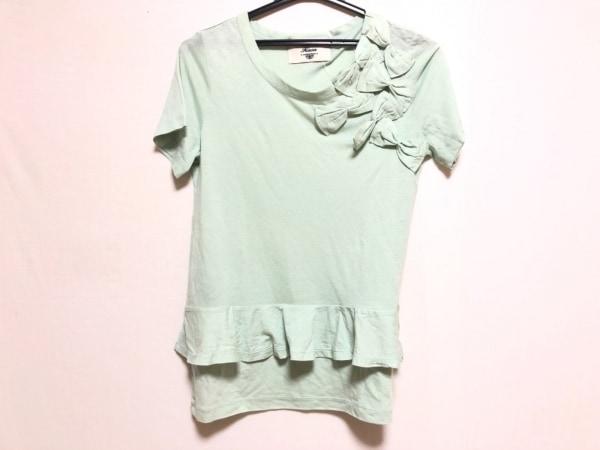 kaon(カオン) 半袖Tシャツ サイズF レディース ライトグリーン リボン/フリル