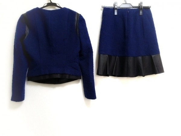 LEJOUR(ルジュール) スカートスーツ レディース ブルー×黒 豹柄/ラメ
