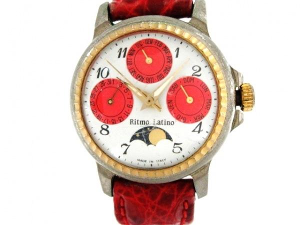 リトモラティーノ 腕時計 - レディース トリプルカレンダー/ムーンフェイズ 白