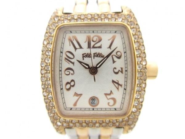 FolliFollie(フォリフォリ) 腕時計美品  WF5R081BZS レディース 白