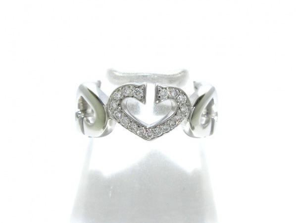 Cartier(カルティエ) リング 48美品  Cハートダイヤ K18WG×ダイヤモンド