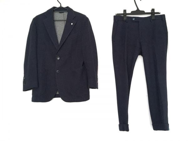 L.B.M.1911(エルビーエム1911) シングルスーツ メンズ美品  ブルー×黒