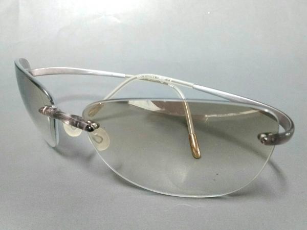 Silhouette(シルエット) サングラス M3171 ピンク×シルバー×クリア プラスチック