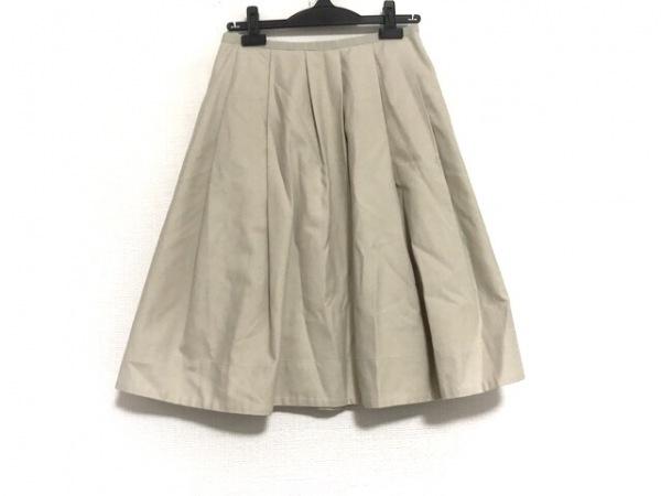 マーガレットハウエル スカート サイズ1 S レディース美品  ベージュ×ライトブラウン