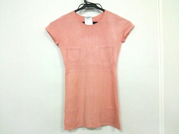 CHANEL(シャネル) 半袖セーター サイズ36 S レディース ピンク