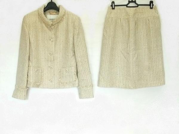 INGEBORG(インゲボルグ) スカートスーツ サイズ9 M レディース美品  ベージュ ラメ