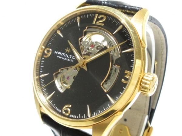 ハミルトン 腕時計 ジャズマスター  ビューマチック オープンハート H327350 メンズ