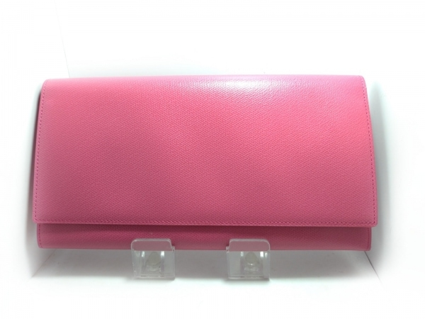 SMYTHSON(スマイソン) 財布美品  ピンク レザー