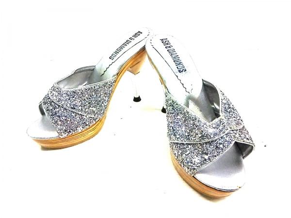 ASH&DIAMONDS(アッシュ&ダイヤモンド) ミュール 6 レディース シルバー グリッター