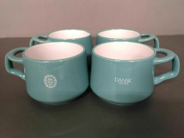 DANSK(ダンスク) マグカップ新品同様  ライトグリーン 4点セット 陶器