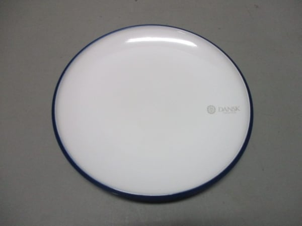 DANSK(ダンスク) プレート新品同様  白×ネイビー 陶器