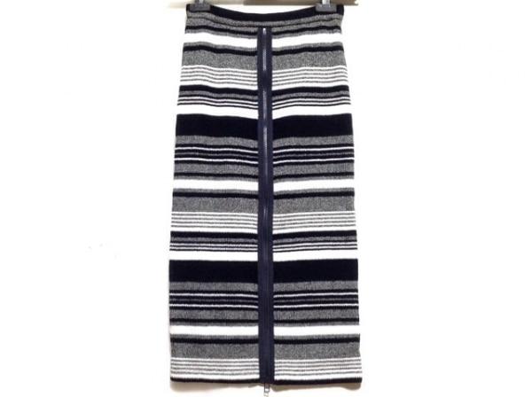 AULA(アウラ) スカート サイズ0 XS レディース美品  黒×マルチ