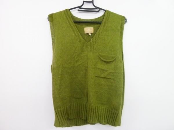 ナイジェルケーボン ノースリーブセーター サイズ8 M レディース美品  ダークグリーン