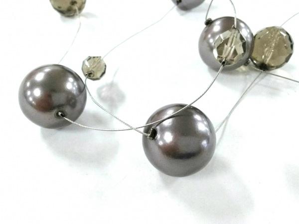 エンポリオアルマーニ ネックレス美品  ワイヤー×プラスチック シルバー×グレー