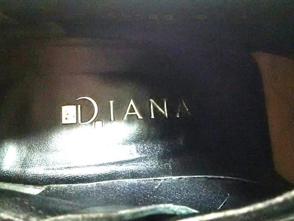 DIANA(ダイアナ) ブーティ 23 1/2 レディース 黒 スエード×レザー