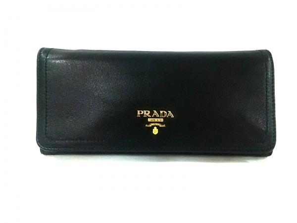 PRADA(プラダ) 長財布 - 1M1132 黒 レザー