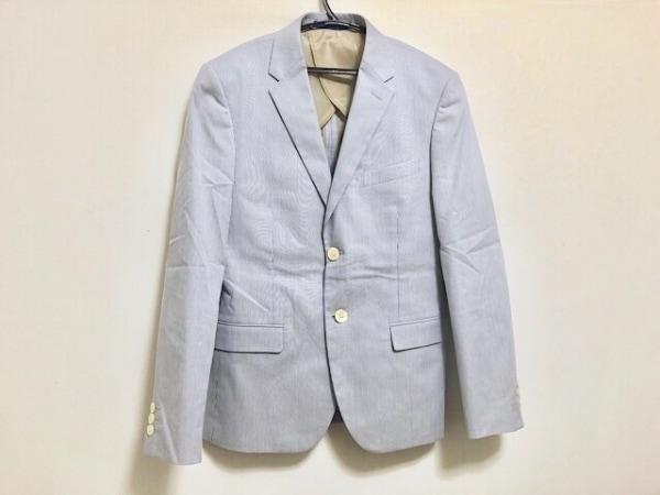 PaulSmith(ポールスミス) ジャケット サイズS メンズ美品  ブルー×白 ストライプ