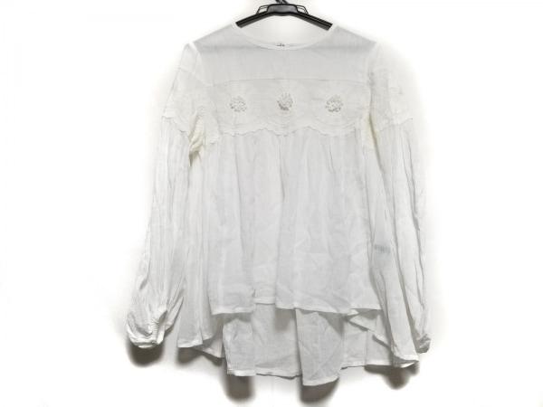 MUVEIL(ミュベール) 長袖カットソー サイズ36 S レディース美品  白