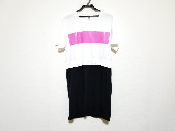 トーガ・オッズ&エンズ ワンピース サイズONE F レディース美品  白×黒×ピンク