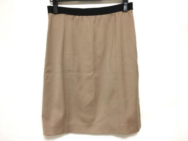エム.フィル スカート サイズ38 M レディース美品  ライトブラウン ウエストゴム