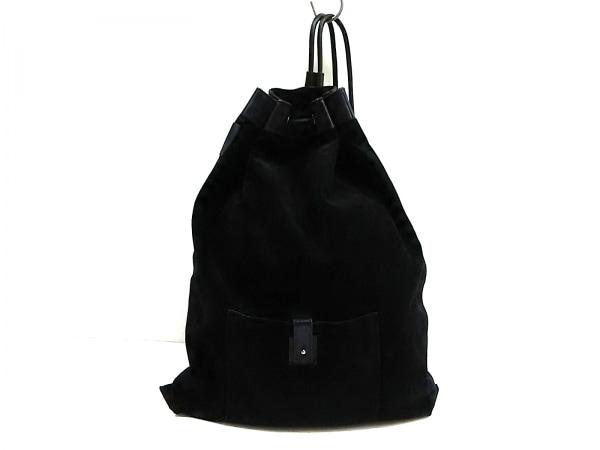 GUCCI(グッチ) リュックサック - 30253 黒 巾着型 スエード×レザー