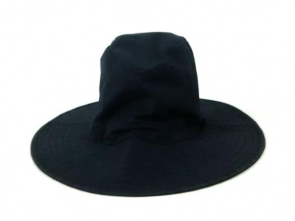 COEUR(クール) 帽子美品  黒 コットン