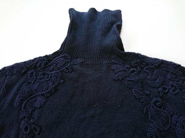 インゲボルグ 長袖セーター サイズ9 M レディース 黒 タートルネック/レース
