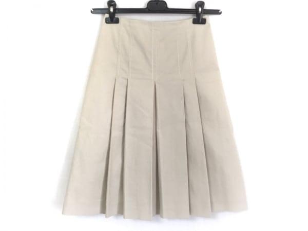 PRADA(プラダ) スカート サイズ38 S レディース美品  ベージュ