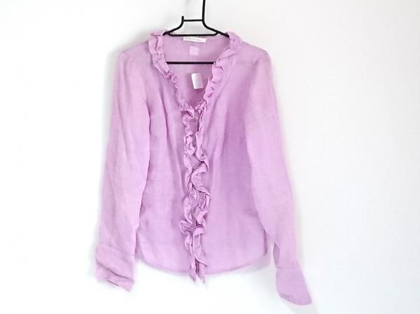 120%lino(リノ) 長袖シャツブラウス サイズ38 M レディース美品  ピンク フリル