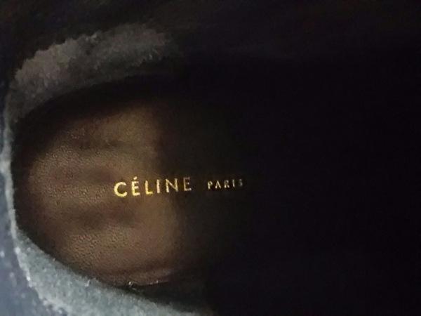 CELINE(セリーヌ) ショートブーツ 36 レディース 黒×シルバー レザー×金属素材