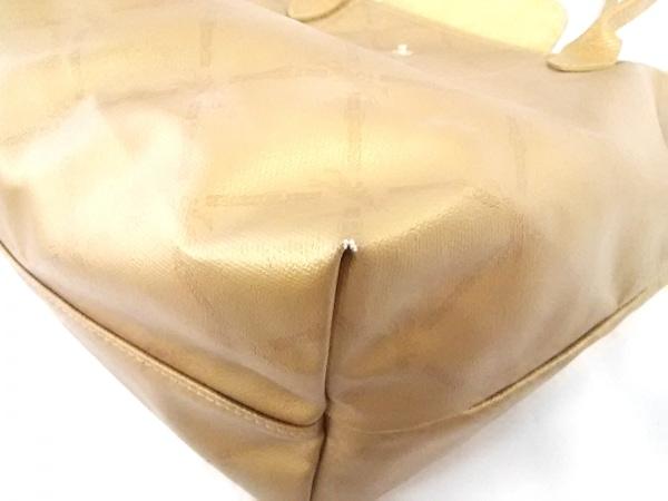 ロンシャン ショルダーバッグ ゴールド コーティングキャンバス 7