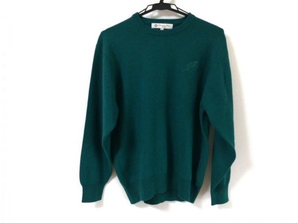クリスチャンディオールスポーツ 長袖セーター サイズL レディース新品同様  グリーン
