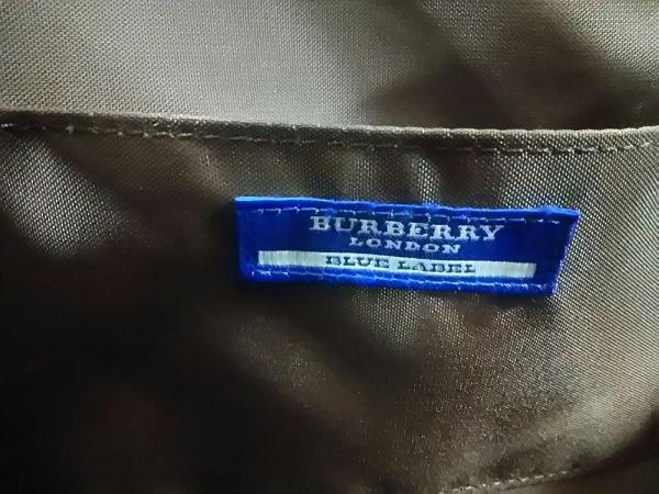 バーバリーブルーレーベル トートバッグ ピンク×ダークブラウン×マルチ チェック柄